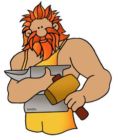 Ancient Greek Gods for Kids, Hephaestus & Vulcan, god of forge, fire, and volcanoes - Ancient Greek & Roman Gods for Kids Ancient Greece For Kids, Ancient Greek, Greek And Roman Mythology, Greek Gods And Goddesses, Greek History, Ancient History, Roman Gods, History For Kids, Roman Art