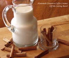 Homemade Cinnamon Coffee Creamer     If you have to wake up early, you might as well treat yourself to amazing coffee!
