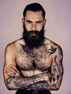 Beards and Tattoos! not the beard,, just the tats..