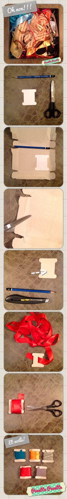 Tuto Rangement ruban by Pouette Pouette