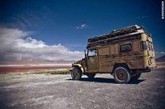 Rough Camping on Salar de Uyuni, Bolivia