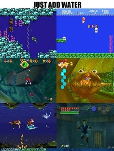 How to Make a Game Harder. They forgot Sonic the Hedgehog and its terrifying drowning music.