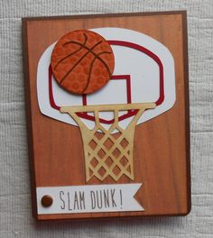 Basketball card using the Silhouette Cameo