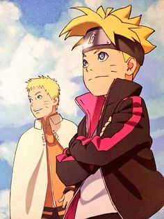 Uzumaki Naruto and Uzumaki Boruto.