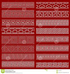 The Frames Of Chinese Style Stock Vector - Illustration of decoration, line: 34842837 Chinese Design, Chinese Style, Chinese Icon, Asian Style, Textures Patterns, Print Patterns, Chinese Boat, Art Deco Borders, Stencil