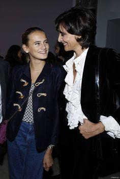 Ines de la Fressange et sa fille, la beauté de mère en fille.