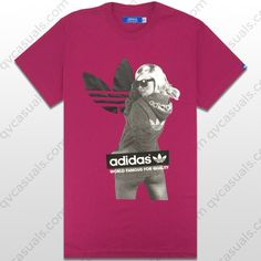 adidas Originals Mens G Girl Tee POWERPINK X34431 at QV casuals. Save on a huge range of big brand tees.