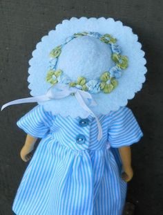 Easter bonnet for Hitty Doll by SashaGarden on Etsy, $8.50
