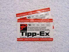Tipp-Ex für die Schreibmaschine. Weiß gar nicht, wie man ohne hätte tippen sollen.
