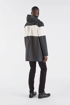 06c819cf7d803 Stockholm Stripe Black White by Stutterheim Raincoats