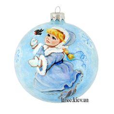 """Подарок Новогодний елочный шар ручной работы """"Зимнее настроение"""""""