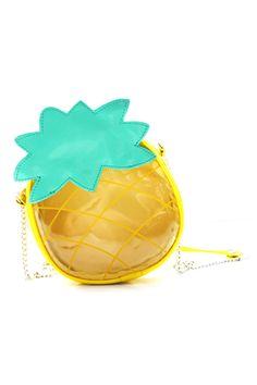 abaday Pineapple Shaped Color Block Bag - Fashion Clothing, Latest Street Fashion At Abaday.com