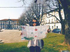 Tourist at Braga, Portugal.