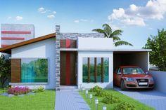 Projeto Porto Alegre é uma casa funcional, fachada interessante com 142 m2, 3 quartos sendo 1 suíte com uma vaga de garagem