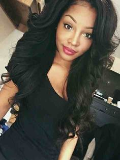 Top quality Brazilian virgin middle part lace front wigs & Glueless human hair body wave for black women lace wavy wig freeship! Weave Hairstyles, Pretty Hairstyles, Straight Hairstyles, Dope Hairstyles, Black Hairstyles, Love Hair, Gorgeous Hair, Curly Hair Styles, Natural Hair Styles