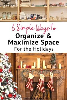 6 Ways to declutter, organize and maximize space for the Holidays when family and friends come to visit. Get ready for a less stressful Thanksgiving and Christmas with these helpful tips. Declutter, Organize, Christmas Crafts, Christmas Decorations, Maximize Space, Home Hacks, Helpful Tips, Clean House, Ladder Decor