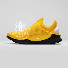 Supreme x Nike Sock Dart Yellow #MensFashionSneakers Sneakers Nike, Nike Shoes, Yellow Sneakers, New Sneakers, Sneakers Fashion, Nike Kicks, Sneaker Games, Fashion Mode, Nike Air Max
