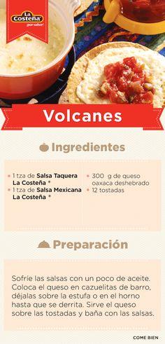 Volcanes Caseros La Costeña #Receta
