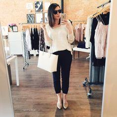 Yesterday's shop girl look. // Sweater is @westandlou, shop the rest of the look here!   #oo... @liketoknow.it www.liketk.it/19yia #liketkit