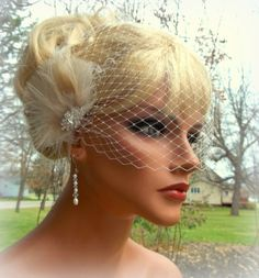 Ivory and Champagne bridal fascinator feather by kathyjohnson3, $58.00