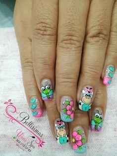 Nail Art Designs Videos, Cute Nail Designs, Cute Nails, Pretty Nails, La Nails, Feet Care, Nail Arts, Summer Nails, Pedicure