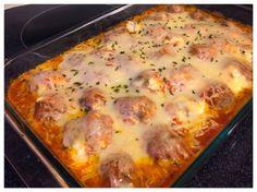 Lasagna Meatballs (serve with spaghetti squash)