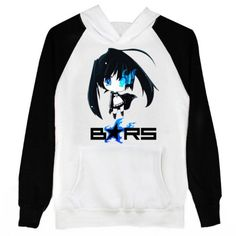 BRS Black Rock Shooter Cosplay Costume Anime Black White Hoodie Size XXL -- Additional details @