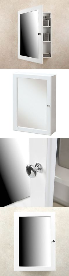 Medicine Cabinets 176991: Medicine Cabinet White Finish Single Framed Mirror Door Surface Mounted Bathroom -> BUY IT NOW ONLY: $77.85 on eBay!