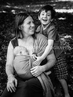 Babywearing Mama Portrait | Mira Whiting Photography | Arlington, MA