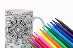 HEALTH Mandala Mug DIY Color Your Own Mandala by Exaltation