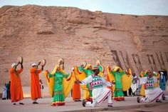 The #AbuSimbelSunFestival is a bi-annual event that takes place at the spectacular temple of Ramses. http://www.sawa4tours.com/travel-packages-in-egypt/abu-simbel-sun-festival/
