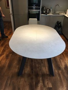and fully extends to Ceramic top with steel frame. Delivered to our client in Hertfordshire. Leather Bed, Dinning Table, Sofa Design, Modern Bedroom, Contemporary Furniture, Steel Frame, Moon, Cabinet, Kitchen