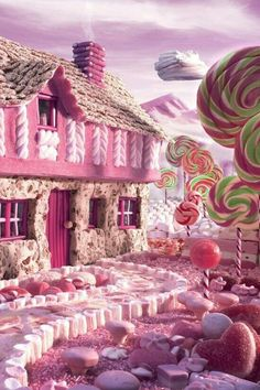 Pink...candy...candy land...