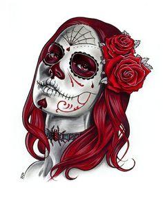 Dia de los Muertos - Sketch A by S-von-P.deviantart.com on @deviantART