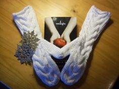 Bella Mittens Thick and Soft Hand Knit White by starlightknits, $35.00