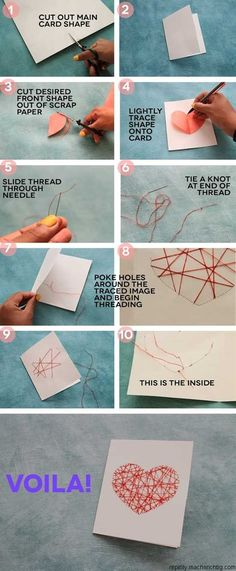 diy string art card