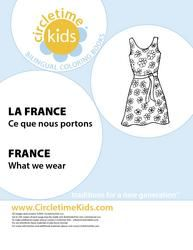 France Clothing Coloring Pages for Around the World theme