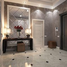 """""""Living with lime plastered walls is like living inside a Rothko painting"""" - Leigh Herzig interior designer. venetian plaster is the… Tuscan Home Decorating, Hallway Decorating, Interior Decorating, Decorating Ideas, Home Entrance Decor, Entryway Decor, Living Room Designs, Living Room Decor, Tuscan House"""