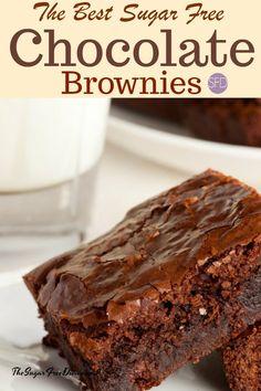 the best sugar free keto brownies ever! # - Keto Brownies - Ideas of Keto Brownies - YUM! the best sugar free keto brownies ever! Keto Desserts, Diabetic Friendly Desserts, Paleo Dessert, Diabetic Recipes, Dessert Recipes, No Sugar Desserts, Desserts For Diabetics, Stevia Desserts, Stevia Recipes