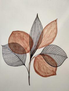 Transition 1 - New Deko Sites Botanical Illustration, Illustration Art, Motifs Art Nouveau, Art Watercolor, Plant Art, Arte Floral, Minimalist Art, Graphic, Art Inspo