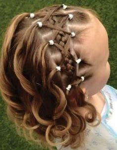 New Wedding Hairstyles For Kids Flower Girls Toddler Hair Ideas Girls Hairdos, Baby Girl Hairstyles, Pretty Hairstyles, Braided Hairstyles, Wedding Hairstyles, Children Hairstyles, Birthday Hairstyles, Toddler Hairstyles, Princess Hairstyles
