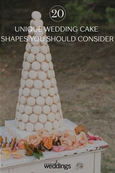 20 Unique Wedding Cake Shapes Contemporary Couples Should Consider Metallic Wedding Cakes, Small Wedding Cakes, Black Wedding Cakes, Beautiful Wedding Cakes, Wedding Cake Designs, Wedding Desserts, Wedding Cake Centerpieces, Wedding Cake Alternatives, Cake Shapes