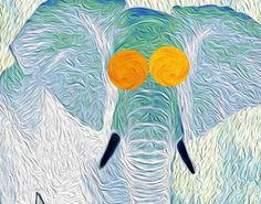 """Saatchi Art Artist lauren preller; Painting, """"Baby Elephant"""" #art"""