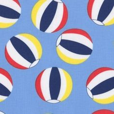 Jack and Lulu - Its a Shore Thing - Beach Balls in Blue