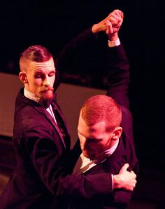 """Jordan Morley, as the Boy Witch, and William Popp in """"Sleep No More"""" from the English theatre company Punchdrunk. Morley is muse to the artist Clive Hicks-Jenkins"""