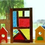 Melted Bead Stained Glass in Frames