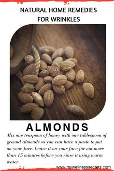 Home Remedies for Wrinkles: Almonds