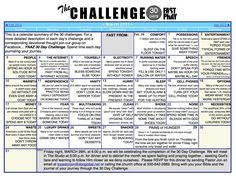 30 Day Challenge to Fast and Pray Modified a little this could be really nice!