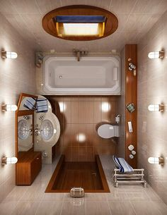 Дизайн маленькой ванной комнаты: 100 фото, идеи для маленькой ванной