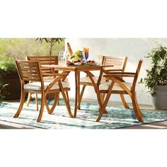 Ajax 5 Piece Dining Set with Cushion